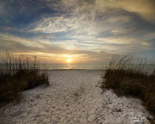 Naples, Florida, Delnor Wiggins State Park, Sunset, beach